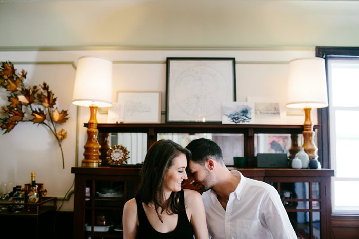 Intimate At Home Engagement Session_014