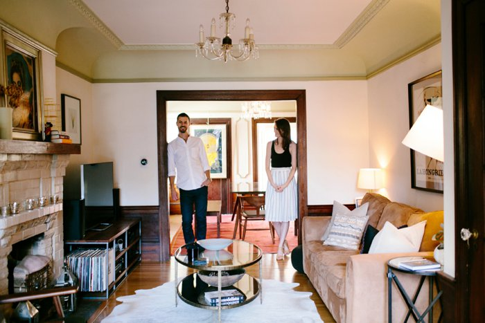 Intimate At Home Engagement Session_016