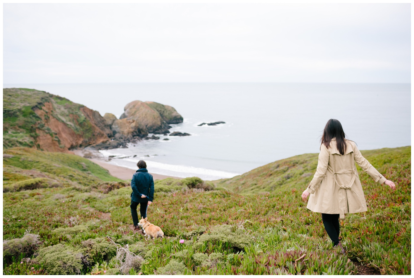 rodeo beach marin headlands engagement session 001