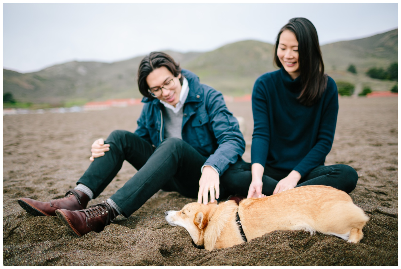 rodeo beach marin headlands engagement session 007