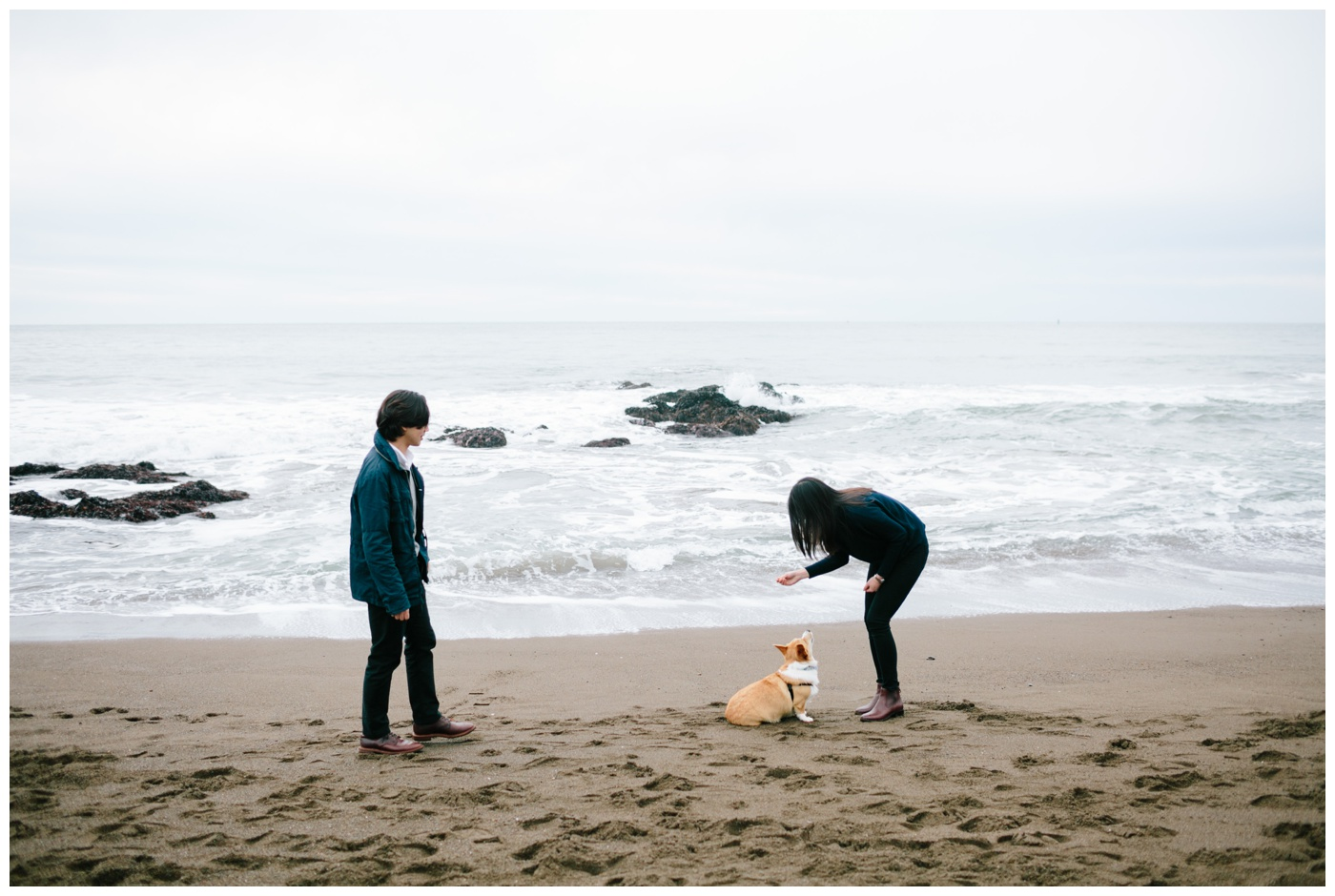 rodeo beach marin headlands engagement session 010