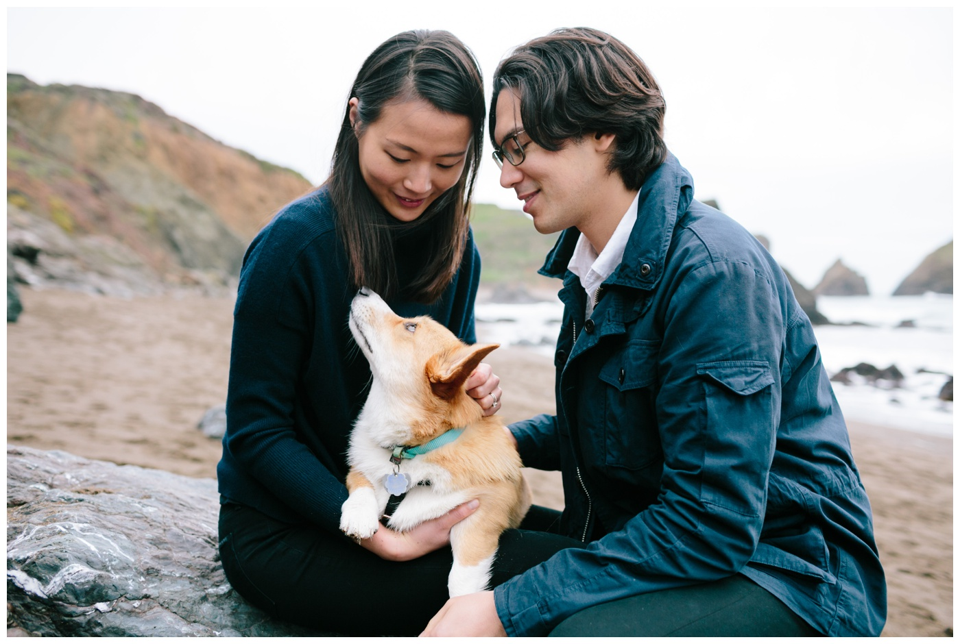 rodeo beach marin headlands engagement session 016